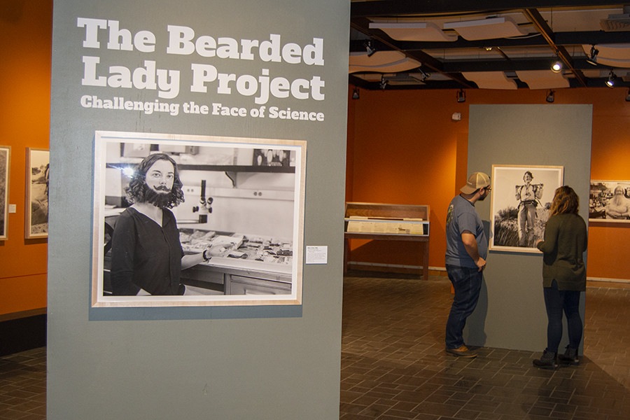 Bearded lady exhibit