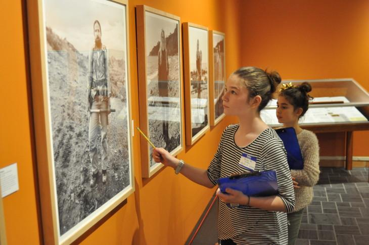 student in museum
